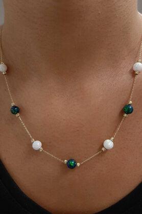 Fiyonk Kuyumculuk - Opal Taşlı Altın Kolye